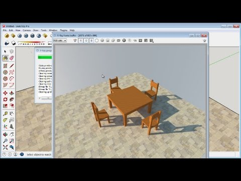 Sketchup Simple Chair and Table Tutorial