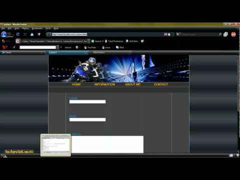 Contact Page   Form, PHP Script Dreamweaver Tutorial - YouTube.flv