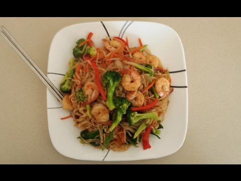 How To Make Fried Rice Noodle With Shrimp