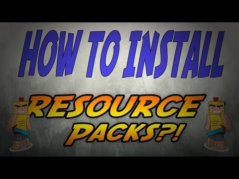 How to Install Resource Packs [Texture Packs] Minecraft 1.7.9 (Mac) (PC)
