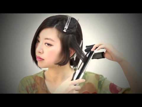 SHORT WAVY HAIR TUTORIAL WITH STRAIGHTENER ♕ CUTE ASIAN HAIRSTYLES FOR SHORT HAIR