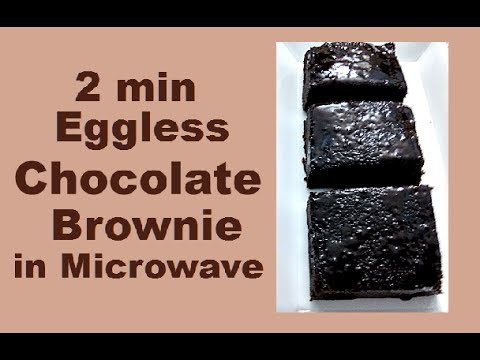 2min eggless chocolate brownie in microwave/ best chocolate brownie recipe eggless -monikazz kitchen