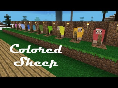 How to Color/Dye Sheep in Minecraft Pocket Edition