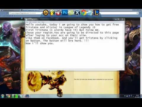 How to get free Alistar and Tristana with skins 2012