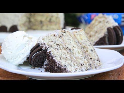 Homemade Cookies n Cream Cake w/ Oreo Buttercream Frosting