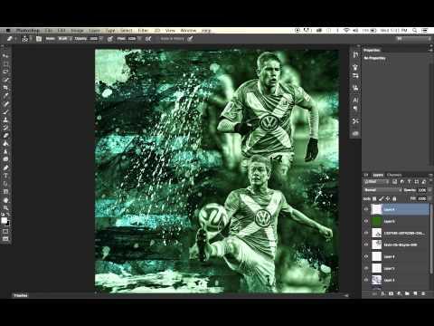 How to Edit like DeezyDesigns Using Photoshop : Football Editing Tutorial