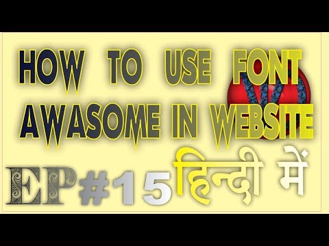 EP #15 How To use font awasome for menus in html aur our website