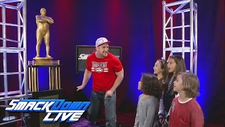 Mojo Rawley shows reverence for the Andre the Giant Memorial Battle Royal Trophy: SmackDown LIVE,..