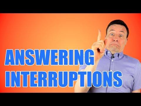 3 TIPS to stop interruptions in English/ Wie man eine Unterbrechung beenden kann