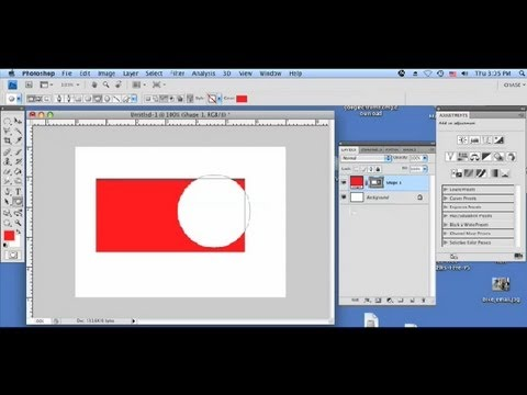 How to Make a Vector Circle Transparent in CS4 : Using a Mac