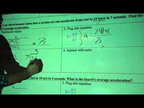 Calculating Average Acceleration #1