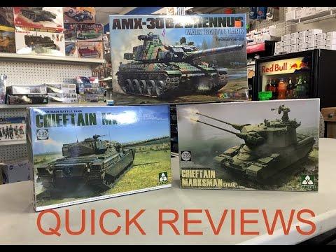QUICK REVIEWS #2 TAKOM 1/35 Chieftain MK2 & Marksman , Tiger Model AMX30