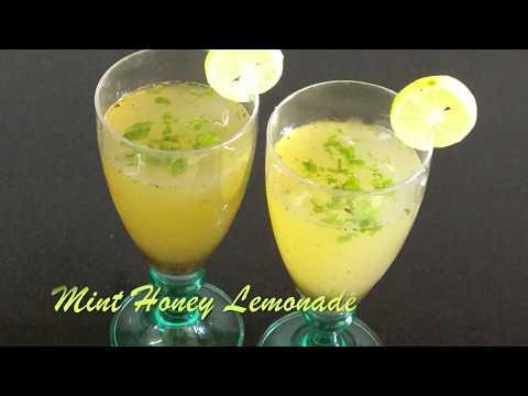 Mint Honey Lemonade-healthy mint honey lemonade-lemonade with honey