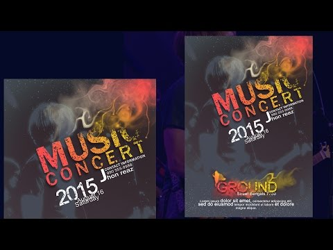 Photoshop Tutorial Creative Poster Music Concert