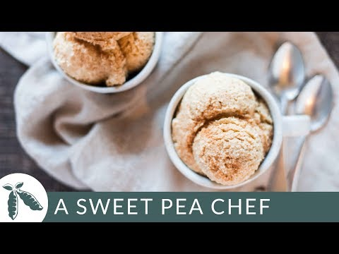 Eggnog Ice Cream | Healthy Ice Cream Recipes | A Sweet Pea Chef