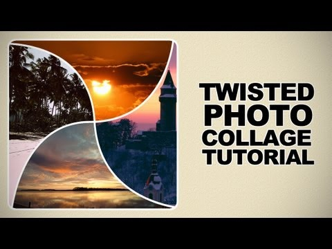 How to Create a Unique Twisted Photo collage in Photoshop Tutorial