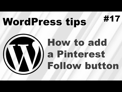 How to add a Pinterest Follow button to WordPress