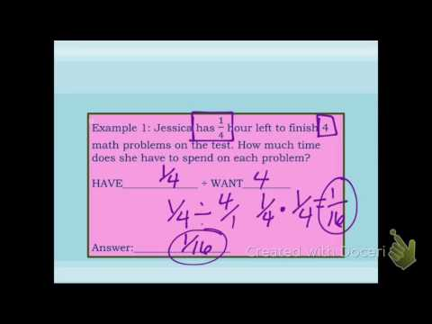 dividing fraction word problems