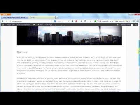 Make a Professional Website #6 - Custom Header in WordPress