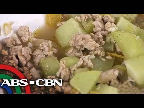 A must try ginisang sayote with giniling