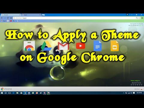 How to Apply a Theme on Google Chrome