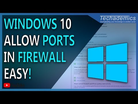 How to Allow a Port or Program through Firewall Windows 10   2018