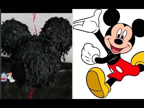 Pinhata do Mickey  Como Fazer Pinhata Super Fácil  Artesanato para Crianças  Piñata How to Make a
