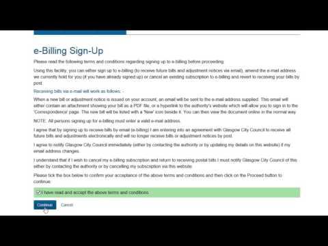 Sign in and Register for Council Tax e-billing