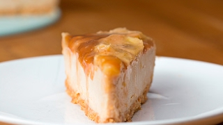 Caramelized Banana Peanut Butter Cheesecake