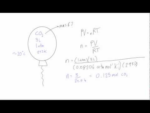 Using ideal gas law to find the mass of a gas sample