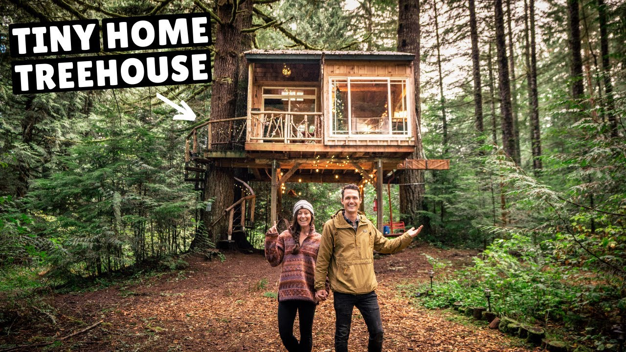OUR TINY HOME TREEHOUSE GETAWAY (break from van life)