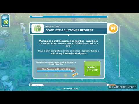 The Sims Freeplay - Complete a Costumer Request -  Weekly Task