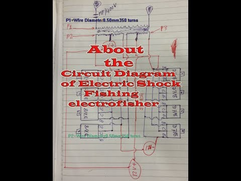 Here Show about  Circuit Diagram of Electric Shock Fishing electrofisher & Components
