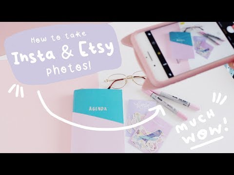 How to edit Instagram & Etsy Product Photos using a I-Phone!  - E-Commerce Photography Tips!