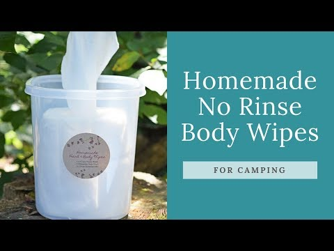 Homemade No Rinse Body Wipes for Camping