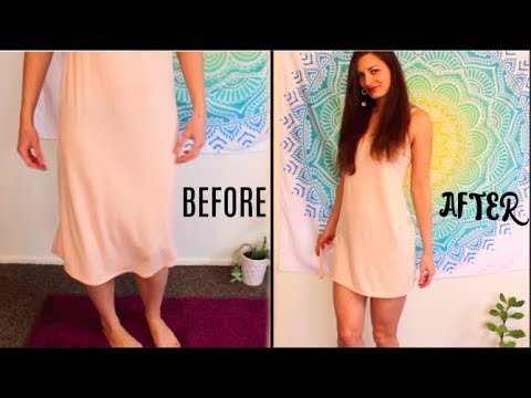 How To Make Sexy Pajamas - Babydoll NightGown Target Upcycling Easy DIY - No Sew!