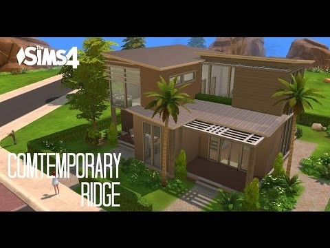 Sims 4 House Building - Comtemporary Ridge