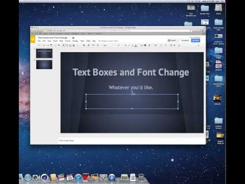 Google Presentations: How to make text boxes and change the font