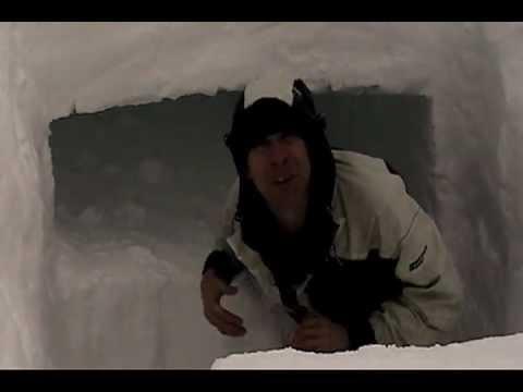 Snow Cave Winter Shelter: BloodFeatherBushcraft