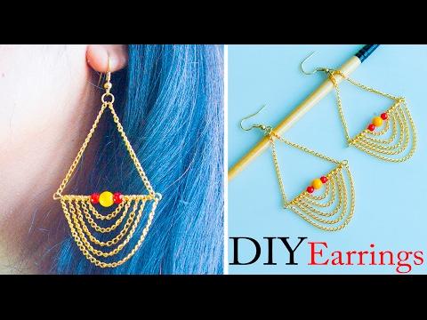 How to make easy earrings | DIY stud earrings  | Jewelry making | Beads art