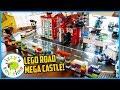 LEGO BRICKHEADZ CITY With Police And Construction Vehicles And Firetrucks