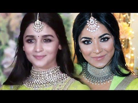 Alia Bhatt inspired Makeup and Hairstyle | Sonam Kapoor Wedding Reception