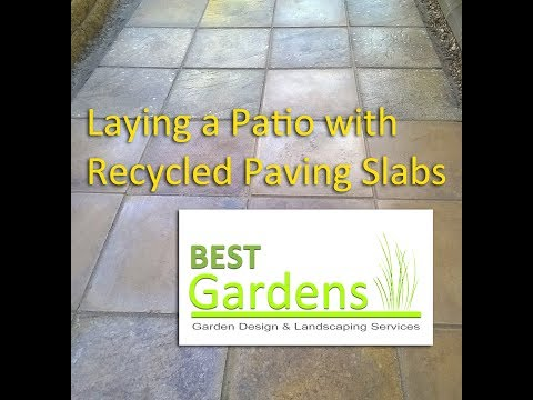 Laying a Patio with Re-cycled Paving Slabs