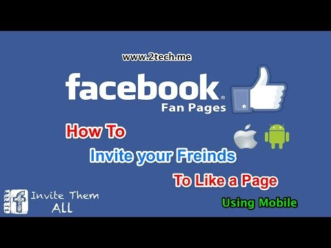 How to Invite your Friends to like Facebook Page using mobile
