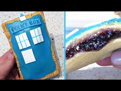 Doctor Who TARDIS Pop-Tarts with Holographic Galaxy Filling Recipe | CupcakeGirl
