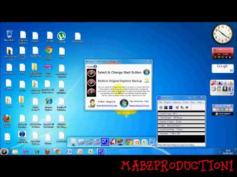 How To Change Your Start Button & Logon And Shutdown Screen Windows 7 ONLY!!!