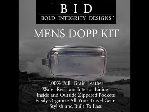 Instant Style that will drive Women CRAZY! - Awesome Dopp Kit by Bold Integrity Designs
