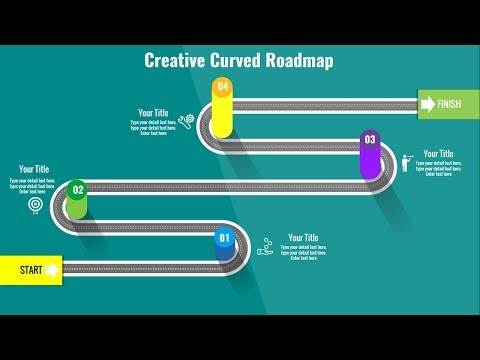 How to create a Curved Roadmap slide in PowerPoint (PPT Presentation) Free slide.