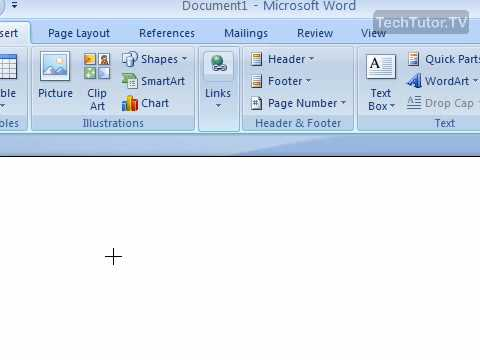 Draw a Shape in Word 2007