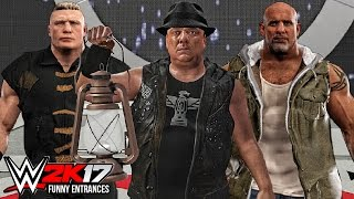 WWE 2K17 - Top 10 Funny Entrances ft John Cena, Triple H, Paul Heyman, Brock Lesnar ( PS4 & XB1 )😜